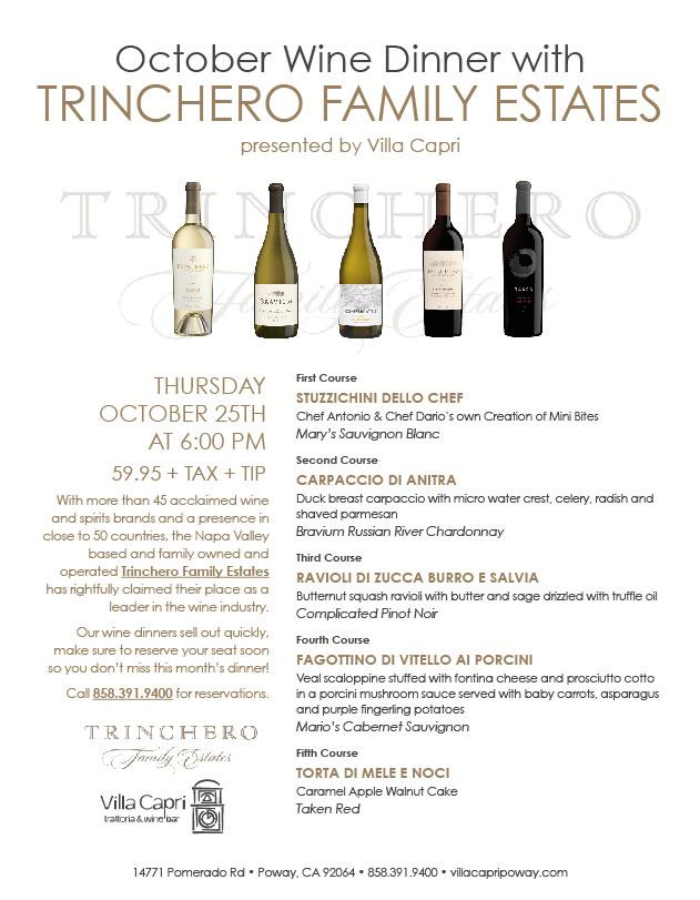 Villa Capri Trattoria Wine Bar Poway Ca